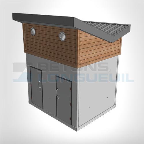 b timent urbain avec un toit fait sur mesure et rev tement ext rieur l acrylique b tons. Black Bedroom Furniture Sets. Home Design Ideas