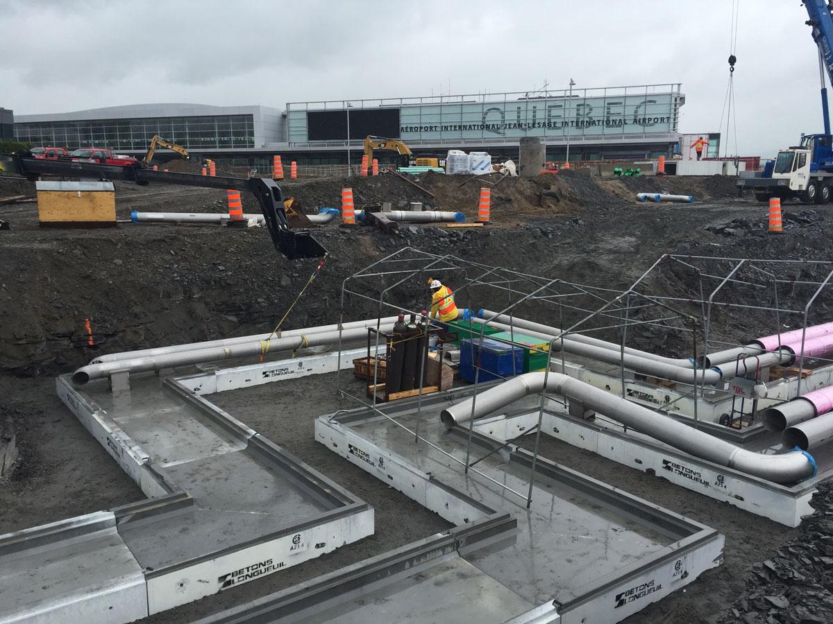 Aeroporto Quebec : Réalisations bétons longueuil